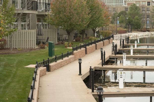 McHenry Riverwalk in Illinois