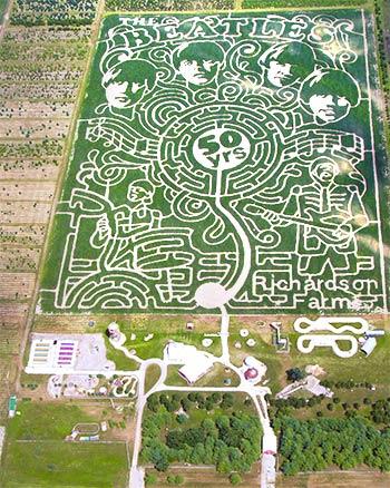 Richardson Corn Maze - Beatles