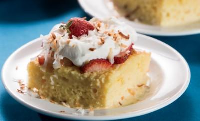 Strawberry-Coconut Tres Leche Cake