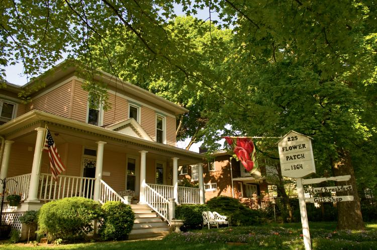 The Flower Patch Bed and Breakfast and Gift has a legendary seven-course breakfast.