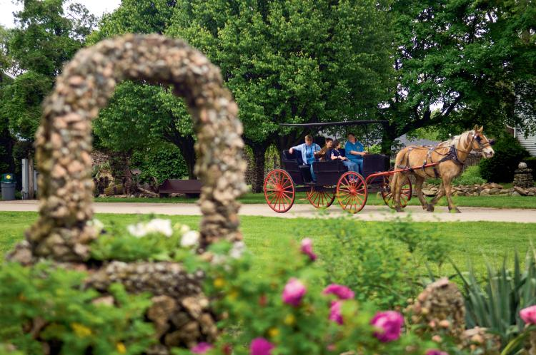 Rockome Gardens Is A Rock And Flower Garden Located In The Heart Of Illinois Amish Country
