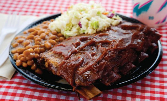 The Smokey Pig in Martinsville, VA, is said to have the best ribs in all of Martinsville.