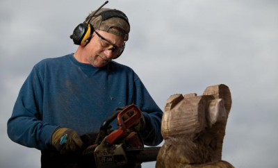 Brian Willis, Wood Carving, chainsaw, Granite City