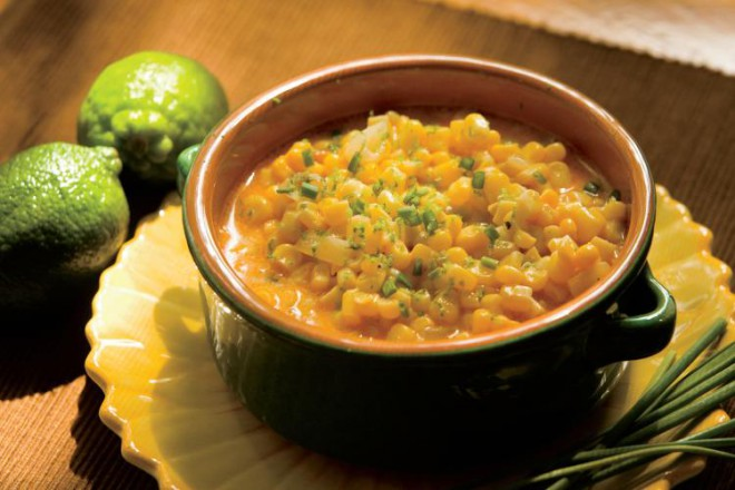 Creamy Chili-Lime Corn Recipe With Goat Cheese