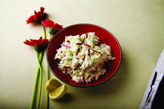 Cabbage and Apple Horseradish Slaw