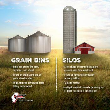grain bin or silo