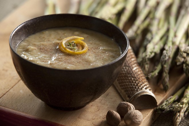 Lightened Up Cream of Asparagus Soup