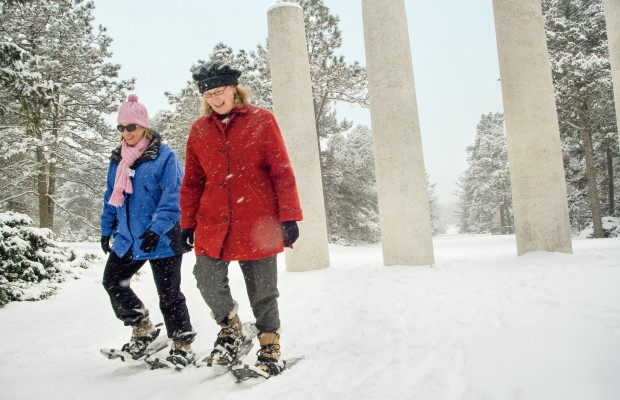 Snowshoeing at the Morton Arboretum