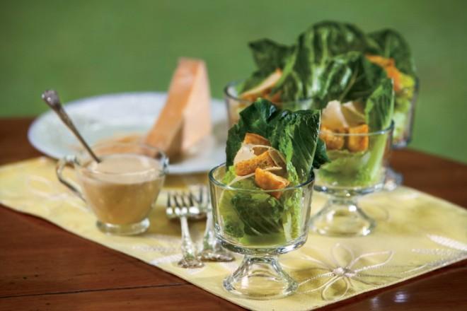 Caesar Salad in a Glass