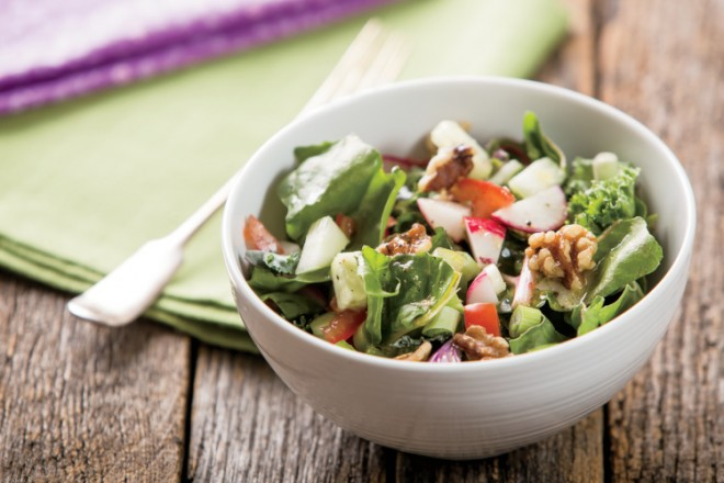 Tossed Green Salad with Horseradish Dressing