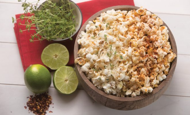 Cayenne and Lime Popcorn