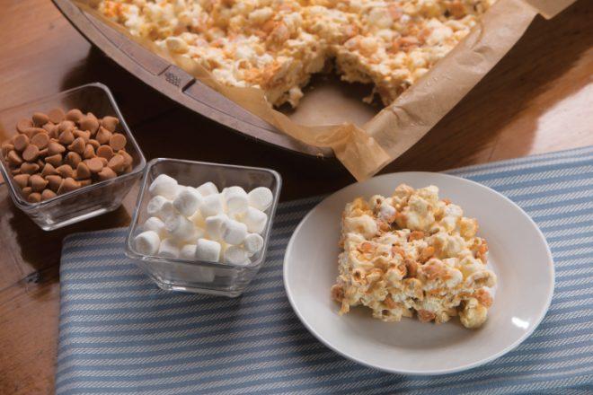 Popcorn Butterscotch Bars