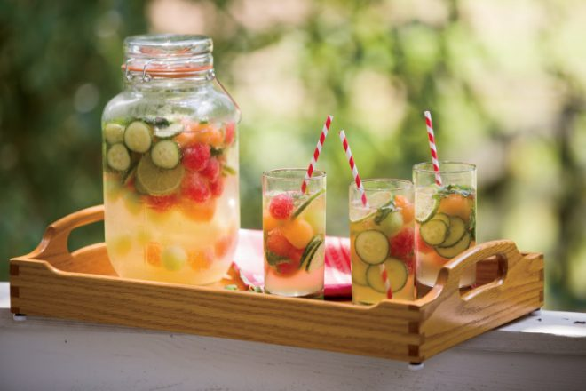 Cucumber, Melon and Mint Sangria
