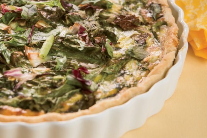 Spring Greens and Country Ham Tart