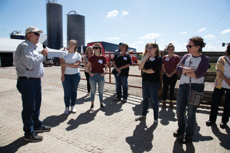 Members of the Illinois Academy of Nutrition and Dietetics toured High Tower Farms in Gridley in 2019 as part of the Illinois Farm Families program
