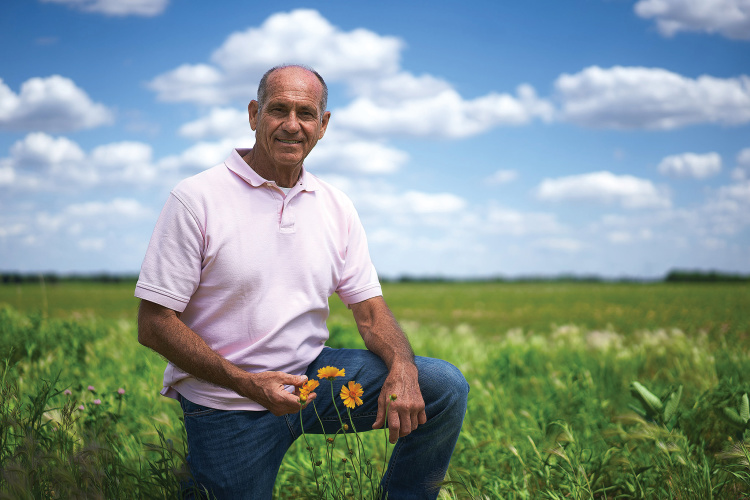 An Illinois Farm Families video about pollinators features White County farmer Don Duvall